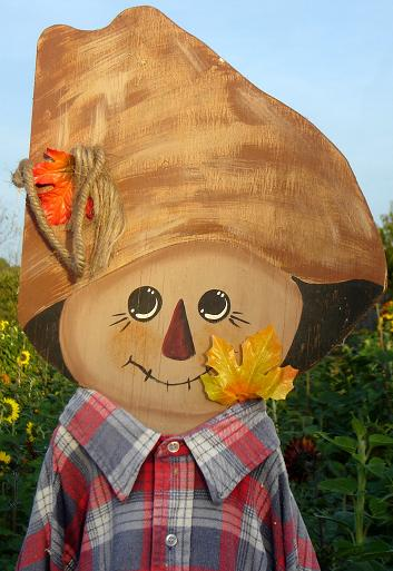 Scarecrow at The Peach Tree Farm near Columbia Missouri