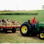 Tractor Hayrides at The Peach Tree Farm in Boonville Missouri